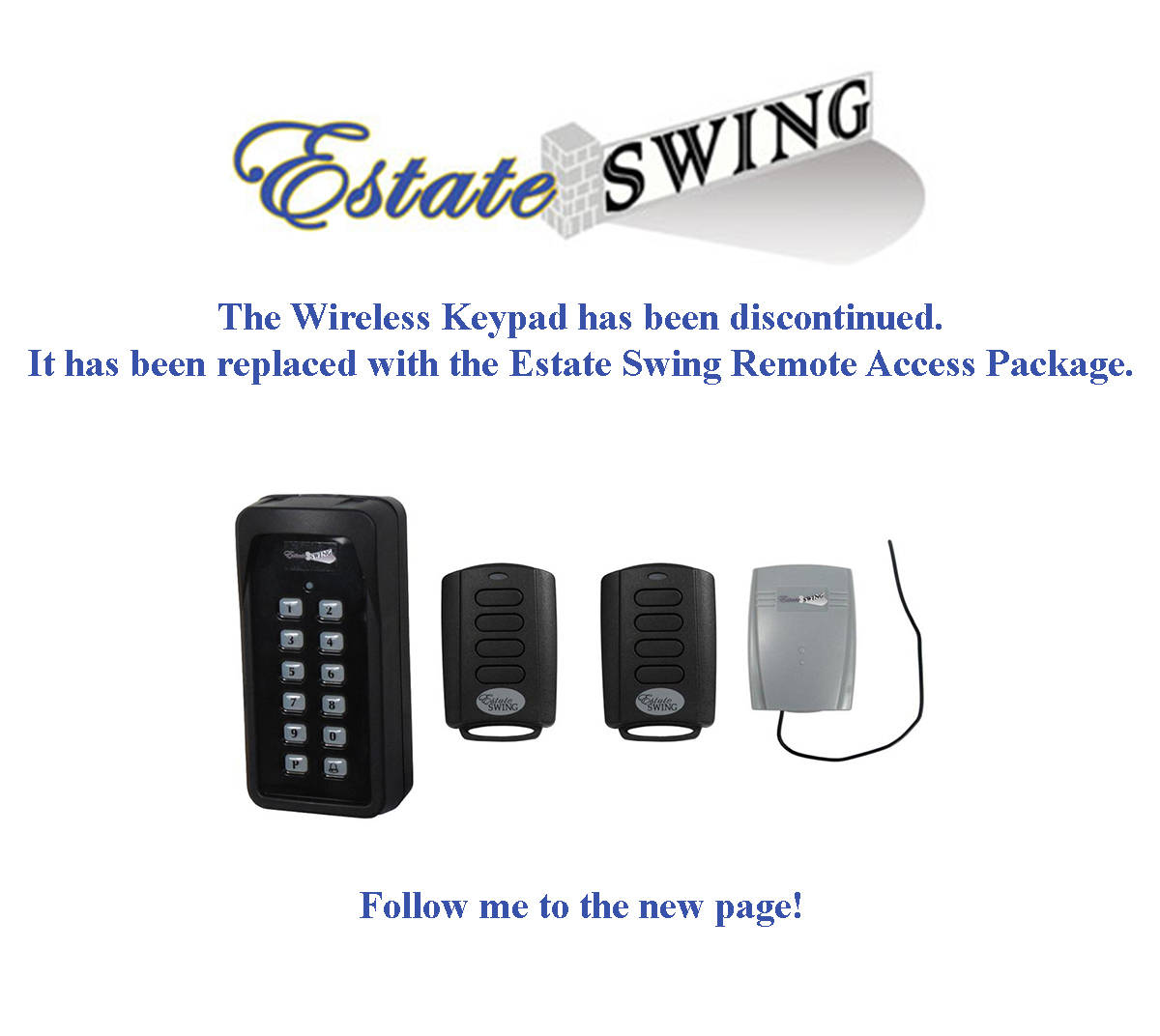 Sommer Wireless Keypad Discontinued